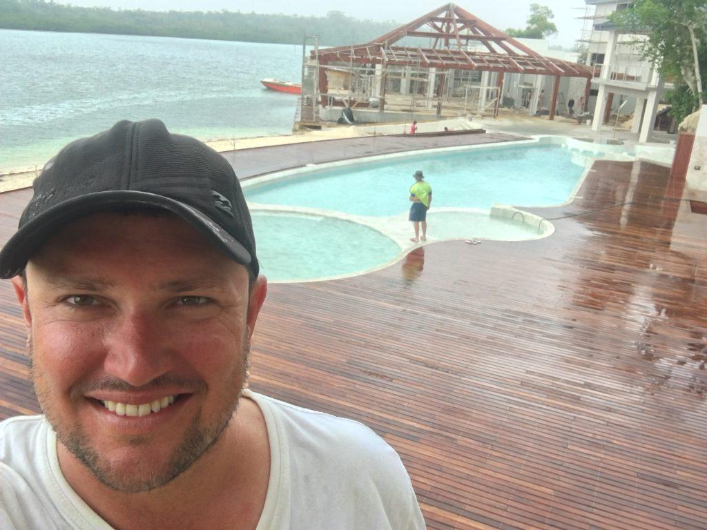 resort pool Vanuatu installation