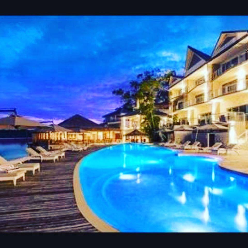 Vanuatu resort pool interiors