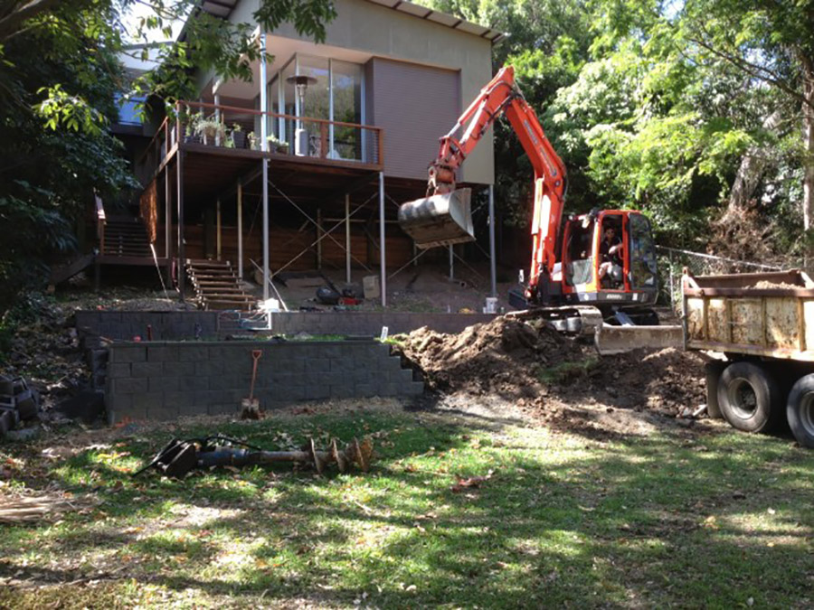 Photo of the project in progress, Pool construction Redlands