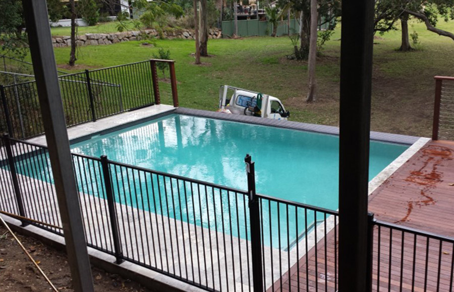 Photo of the completed project, Pool construction Redlands
