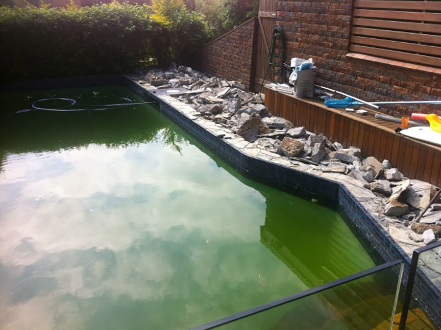 Photo of the pool before, Pool renovation Redland Bay