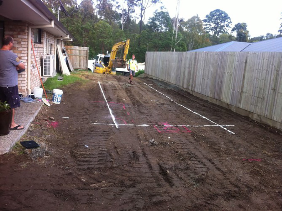 Photo of the start of the project, Pool construction Wynnum