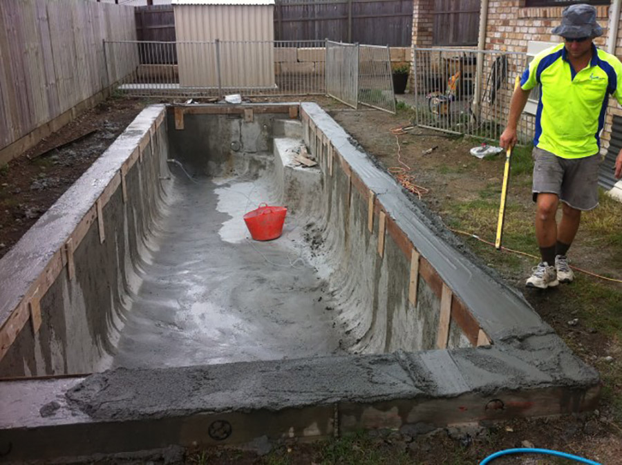 Photo of the project in progress, Pool construction Wynnum