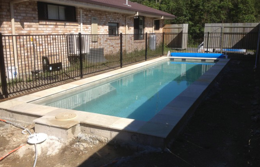 Photo of the completed project, Pool construction Wynnum