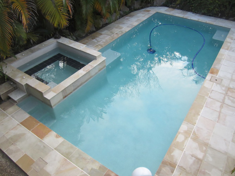 Photo of the completed project, pool renovation Capalaba
