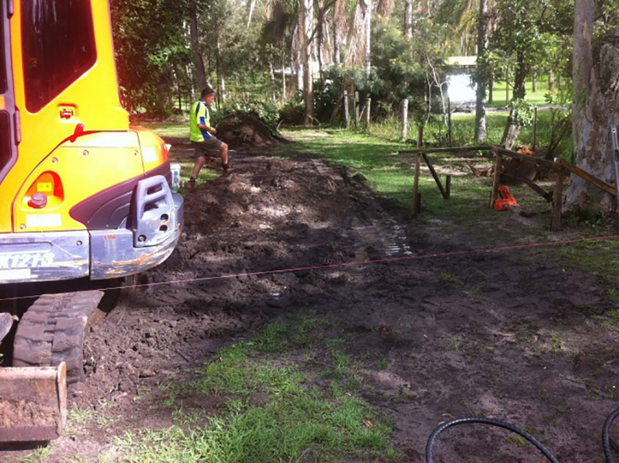 Photo of the start of the project, Loganholme pool construction