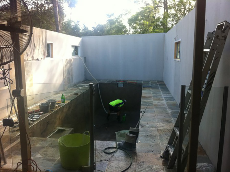 Photo of the project in progress, Loganholme pool construction
