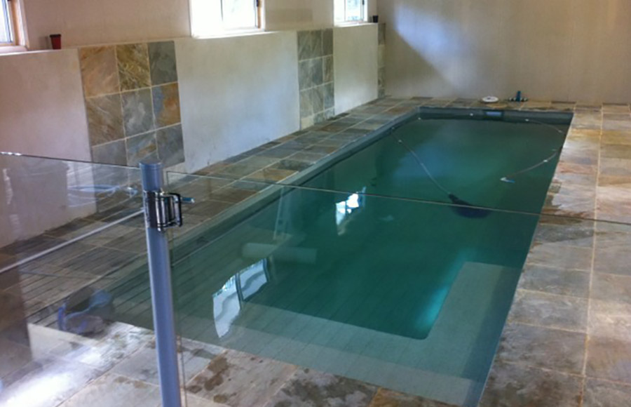Photo of the completed project, Loganholme pool construction