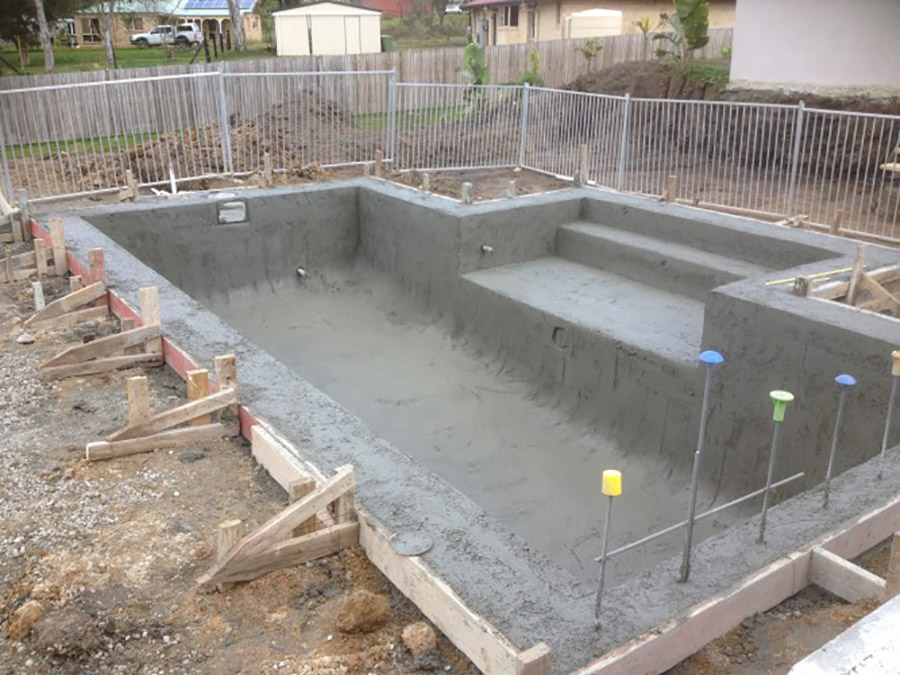 Photo of the project in progress, Mount Cotton pool building