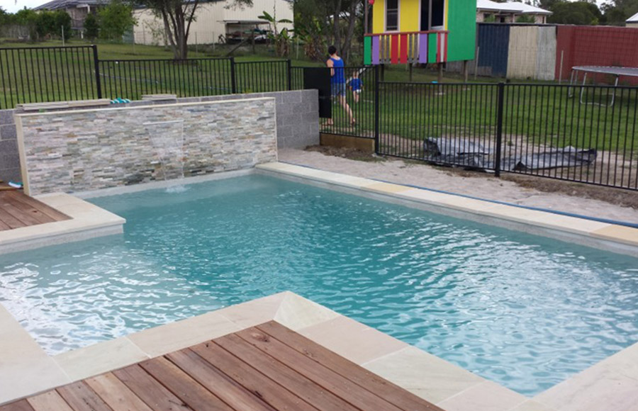 Photo of the completed project, Pool construction Mount Cotton