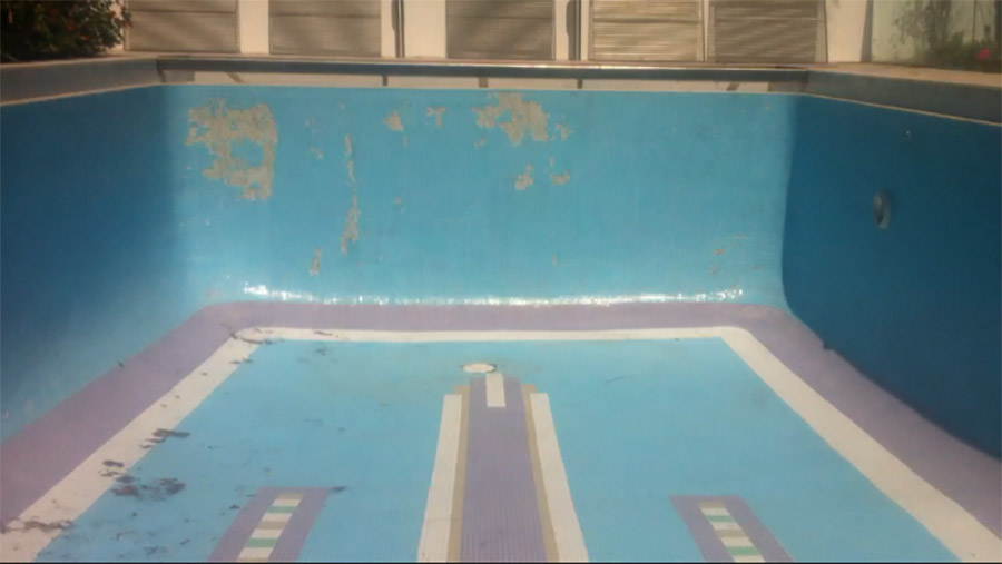 Photo of the pool before, Pool restoration Manly