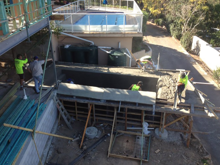 Photo of the project in progress, Pool construction Springwood