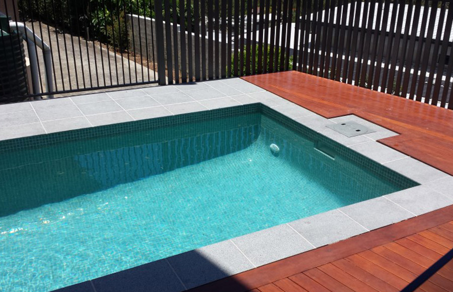 Photo of the completed project, Pool construction Springwood