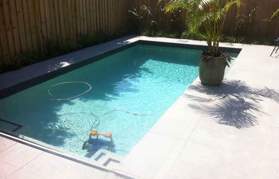 Photo of the completed project, Manly pool building