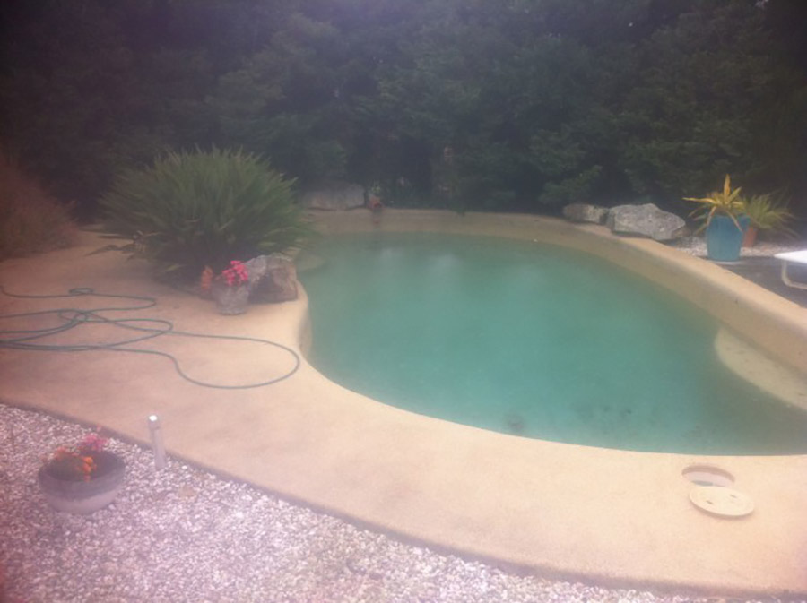 Photo of the pool before, Pool renovation Thorneside