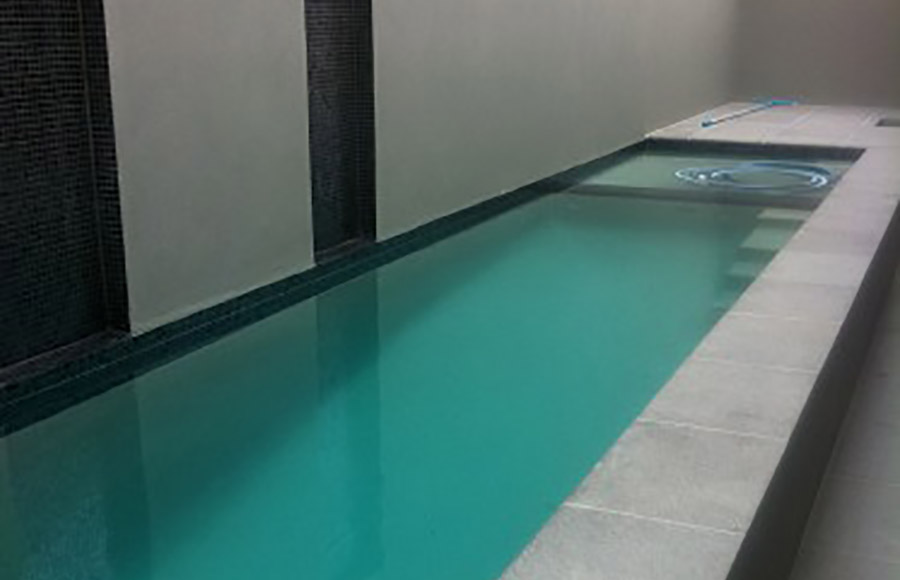 Photo of the completed project, Thornlands pool building