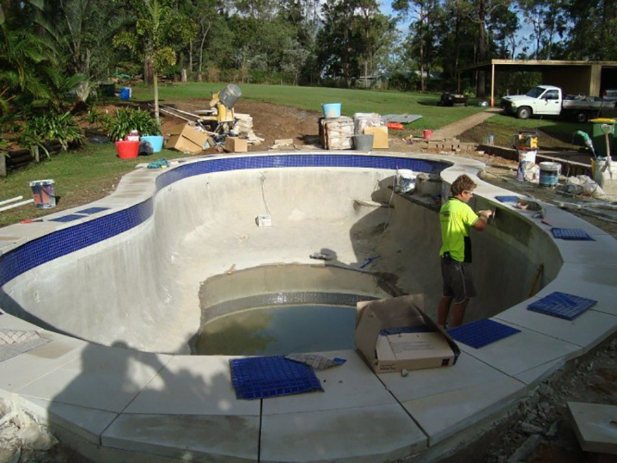 Photo of the project in progress, Pool renovation Shailer Park