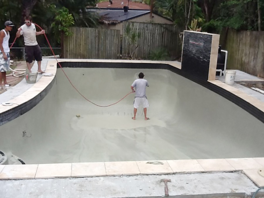 Photo of the project in progress, Alexandra Hills pool renovation