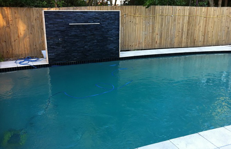 Photo of the completed project, Alexandra Hills pool renovation