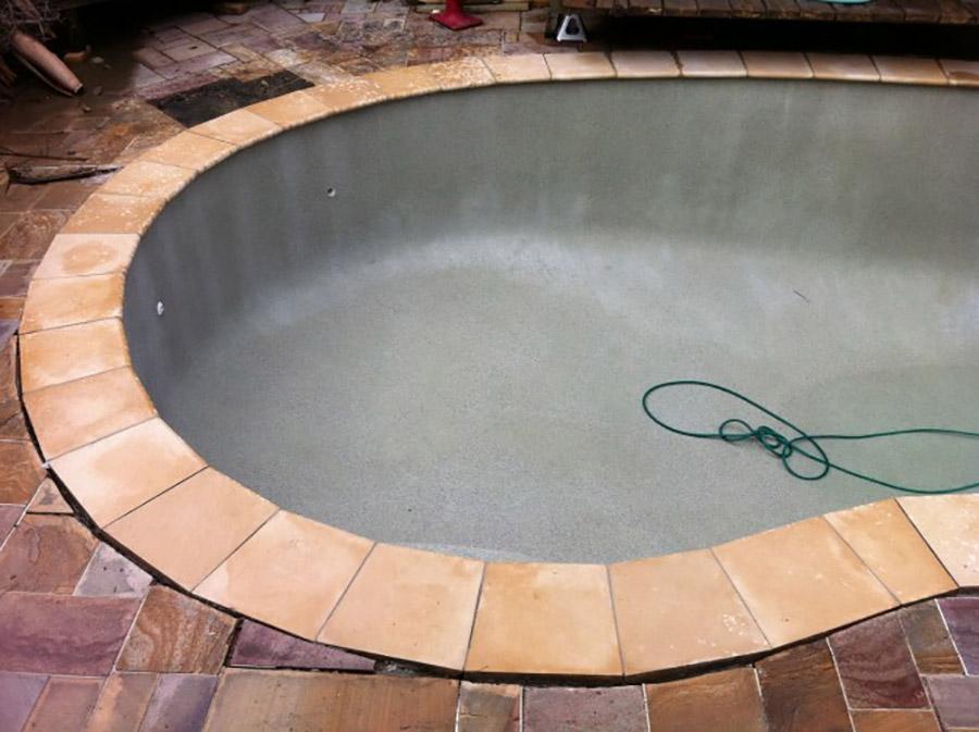 Photo of the project in progress, Lota pool refurbishment