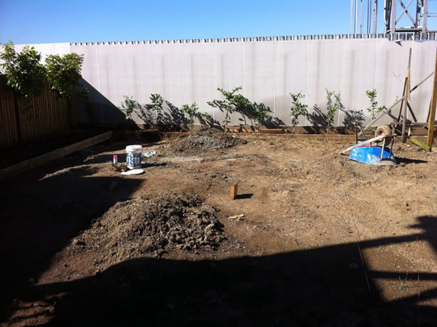 Photo of the start of the project, Pool construction Hendra