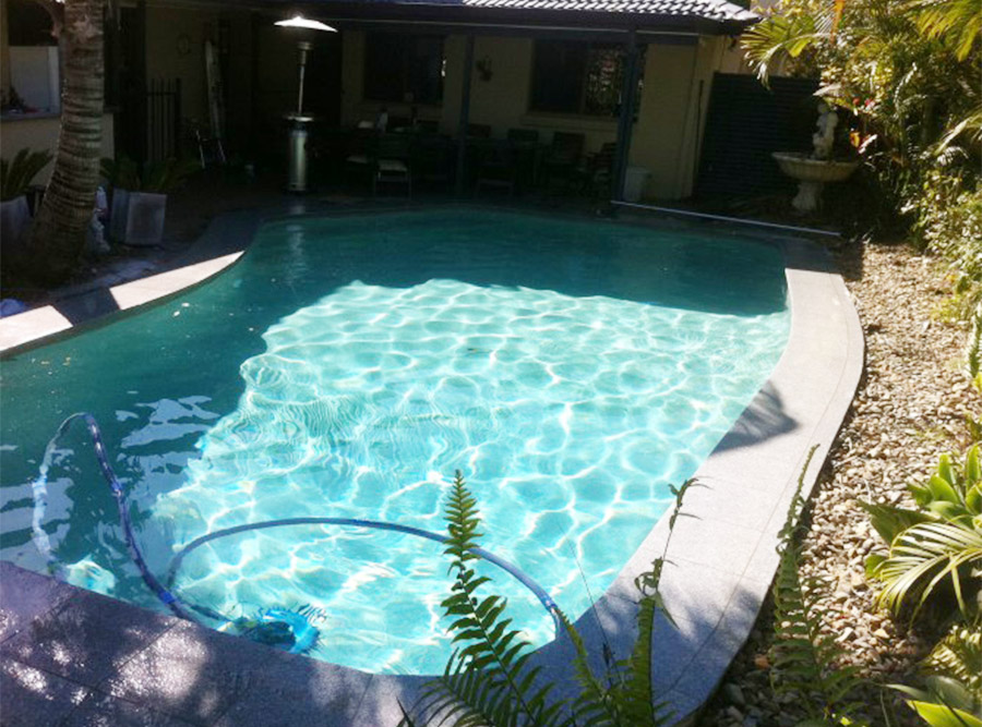 Photo of the completed project, Birkdale pool renovation