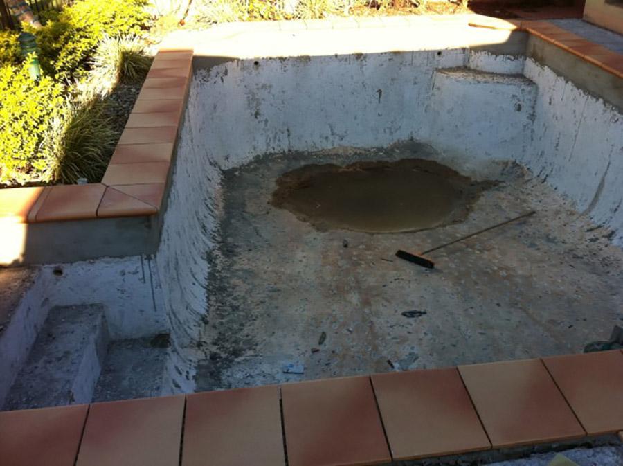 Photo of the project in progress, Carindale pool refurbishment